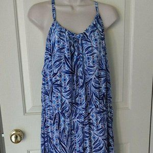 NWT Swimsuits For All Sz 18 20 Blue Flowy Maxi